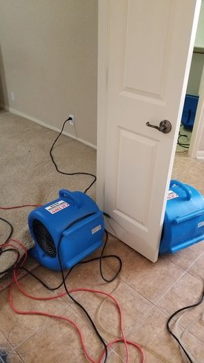 Moisture left untreated from a leaky water heater. Water Damage Restoration in San Antonio, TX (4)