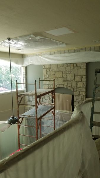 A/C Water Damage High Ceiling Restoration in Boerne, TX (5)