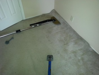 Before Carpet Cleaning & Stretching in San Antonio, TX