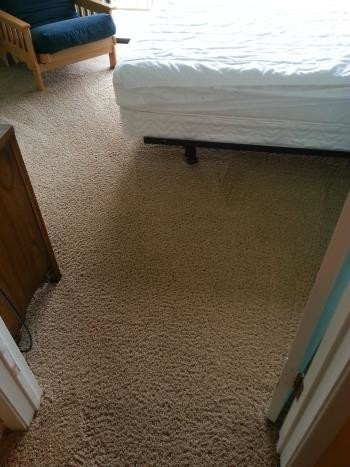 After Carpet Cleaning and Repair (Stretching) in New Brunfels, TX