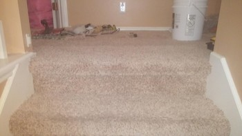 After Carpet Repair from Pet Damage on Staircase